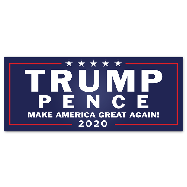 Trump Pence Make America Great Again 2020 Blue Bumper Sticker / DT-BS-543