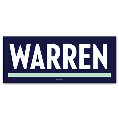 Warren 2020 Blue Logo Campaign Bumper Sticker / EW-BS-605 - Buttonsonline