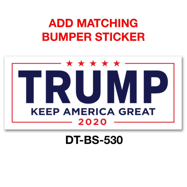 White Keep America Great Trump 2020 Pinback Button / DT-228