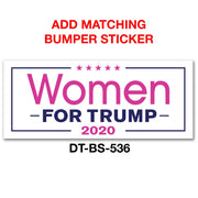 Official Women for Trump White and Pink Bumper Sticker