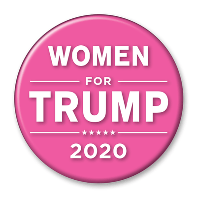 Women for Trump 2020 Campaign Pinback Button / DT-241 - Buttonsonline