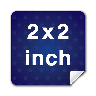"2x2"" Square Custom Lapel Stickers - Buttonsonline"