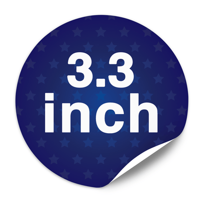 "3.33"" Round Custom Lapel Stickers - Buttonsonline"