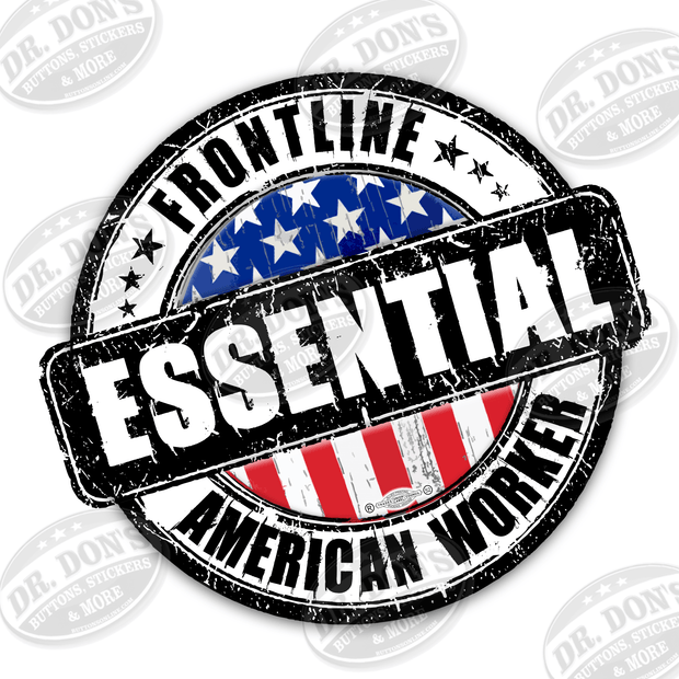 American Essential Worker Hard Hat Sticker / UBEW-3