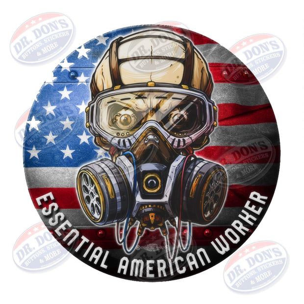 American Essential Worker Hard Hat Vinyl Sticker / UBEW-America