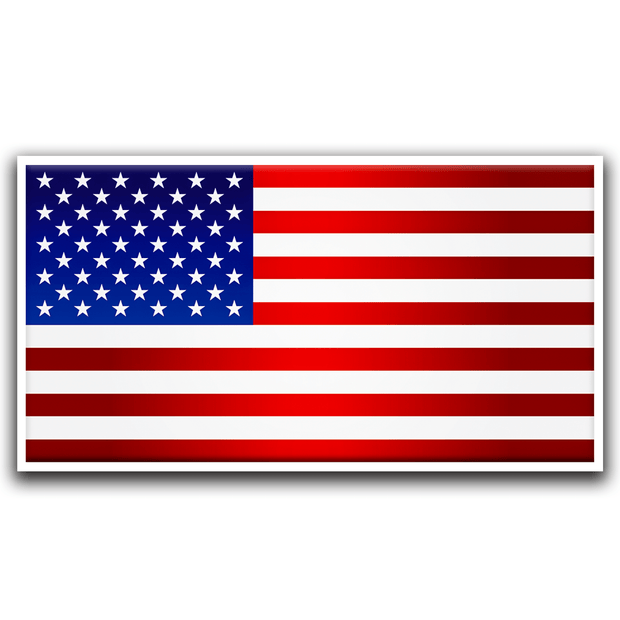 American Flag all weather Vinyl Sticker / USA-Vinyl - Buttonsonline