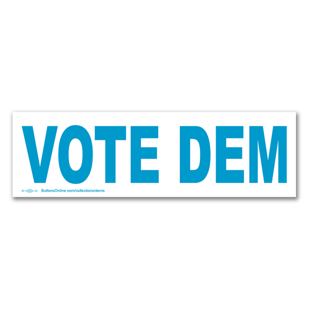 Vote Dem Bumper Sticker / PD-BS-9