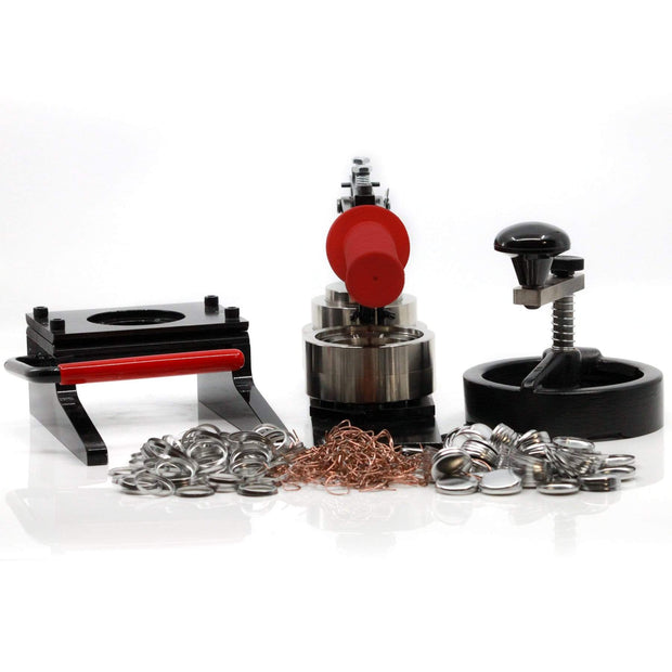 "Model 100, 1"" Button Making starter kit with button maker, cutter and pinback parts"