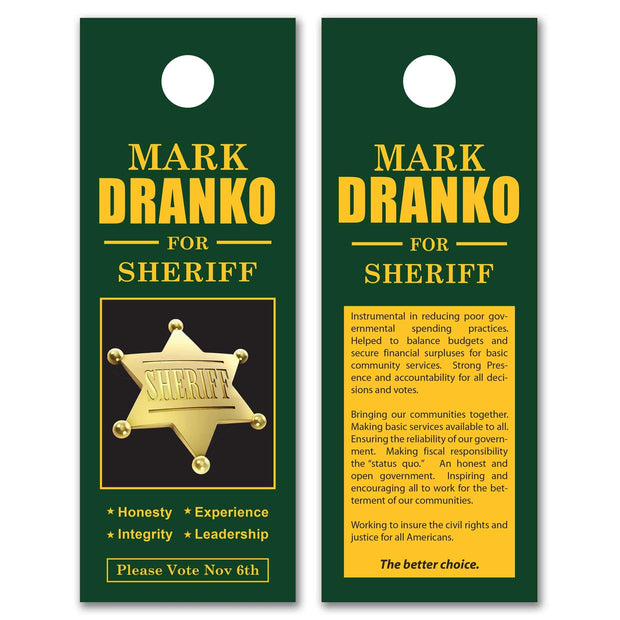 "Door Hanger Templates - SET UP FEE ONLY - DH-19 - 4"" x 11"""