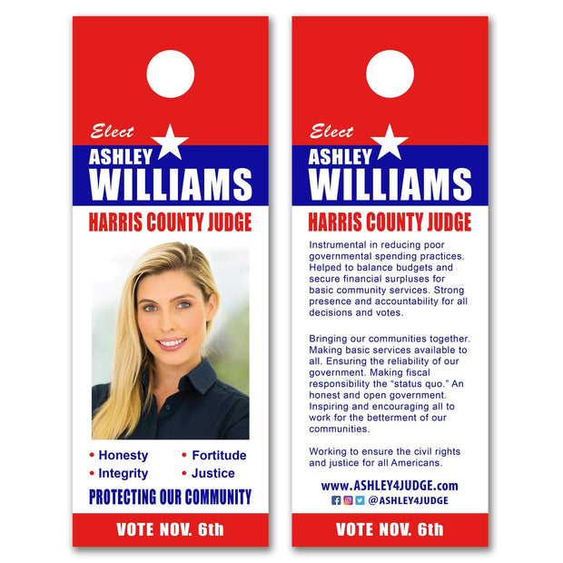 "Door Hanger Templates - SET UP FEE ONLY - DH-7, 4"" x 11"""