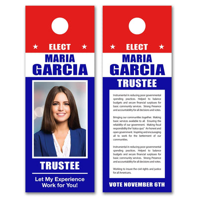 Political Door Hangers / Door Hanger Templates - SET UP ONLY - DH-2 - Buttonsonline