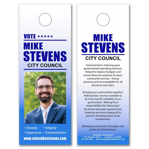 Political Door Hangers / Door Hanger Templates - SET UP ONLY - DH-3 - Buttonsonline
