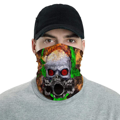 Essential Worker Skull and Gas Mask Neck Gaiter