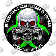 Lineman Skull Gas Mask Essential Worker Hard Hat Sticker Sticker