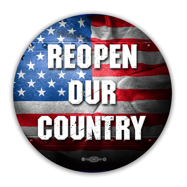 Re Open Our Country Vinyl Hard Hat Sticker / ReOpen-1