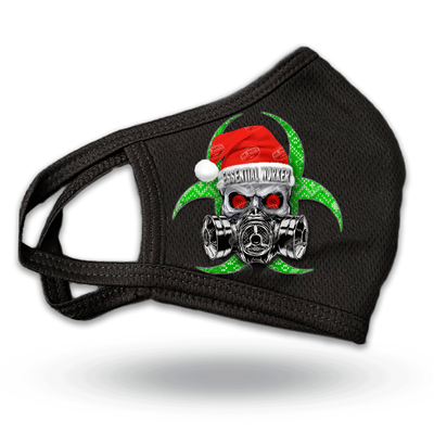 Essential Worker Skull Mask - Special Santa Edition