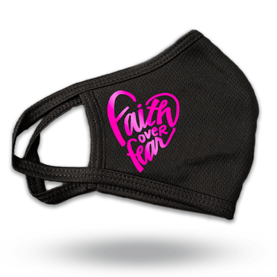 Faith over Fear Black three layer mask