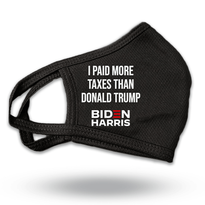 I Paid More Taxes Than Donald Trump Mask - JB-Mask-7