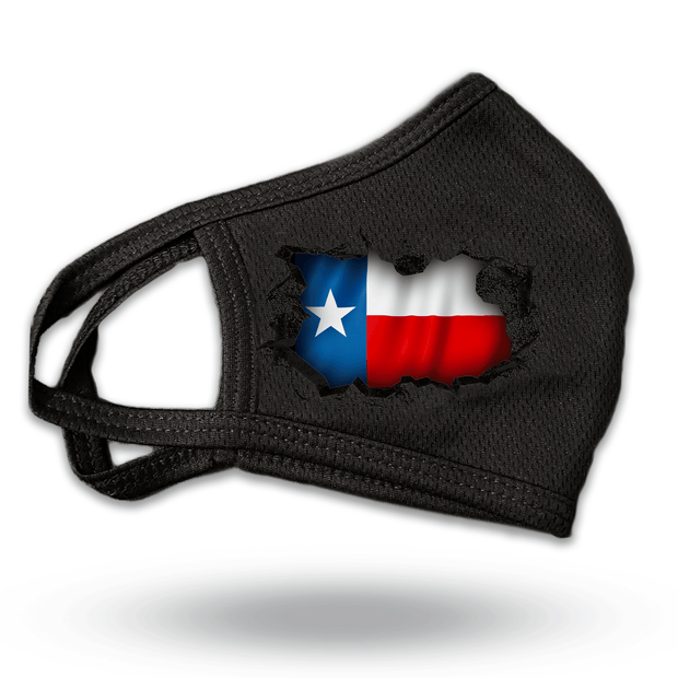 Texas Flag Breakthrough Reusable Fabric Face Covering