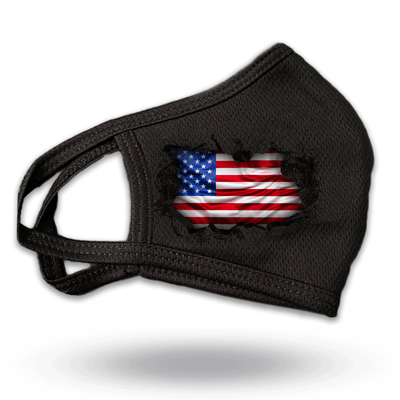 USA Breakthrough reusable three layer black face mask