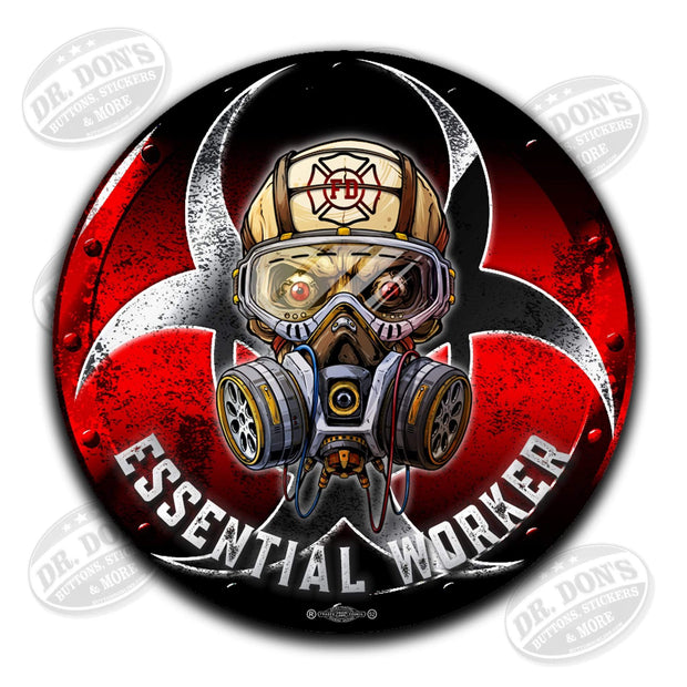 Firefighter Red Line Essential Worker Decal Sticker / UBEW-Fire