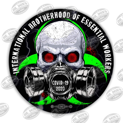 International Brotherhood of Essential Workers Skull Sticker Decal