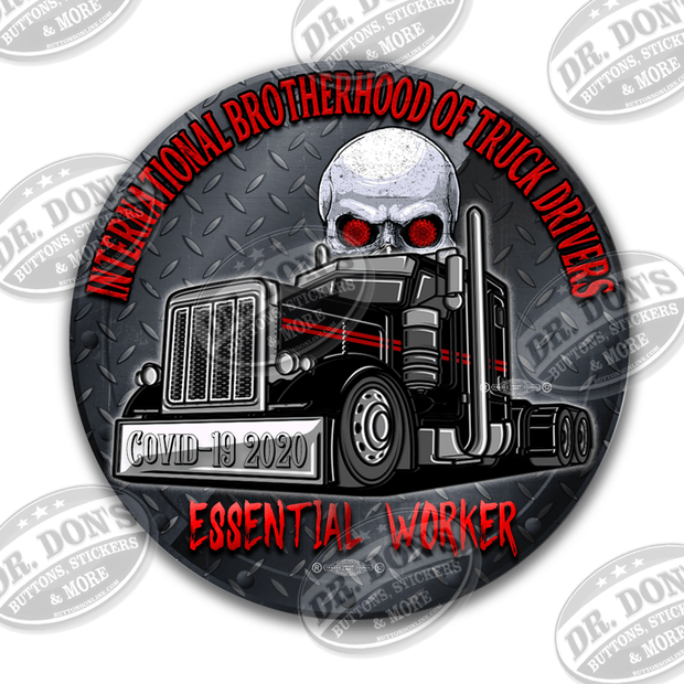 International Brotherhood of Truck Drivers Essential Worker Hard Hat Vinyl Sticker / UBEW-Trucker
