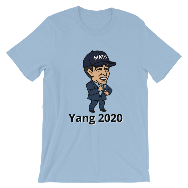 Andrew Yang Caricature Math 2020 Short-Sleeve Unisex T-Shirt - Buttonsonline