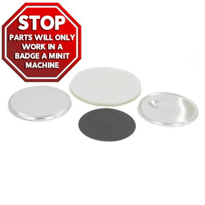 "BADGE-A-MINIT 2-1/4"" Magnet Back Button Sets - Buttonsonline"