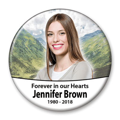 Memorial Photo Button Template - 325 - Buttonsonline