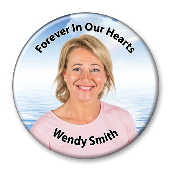 Memorial Photo Button Template - 328 - pinback, ocean