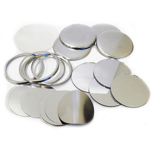 "Model 225 2.25"" Mirror-back Button Sets - Buttonsonline"