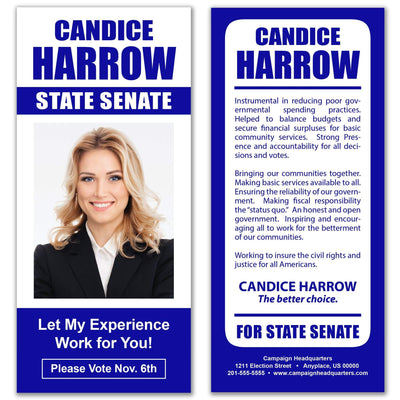 Political Palm Card / Push Card Templates - SET UP ONLY - PC-10 - Buttonsonline