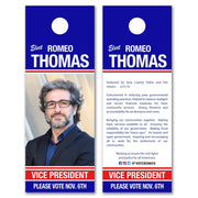 Political Door Hangers / Door Hanger Templates - SET UP ONLY - DH-1 - Buttonsonline