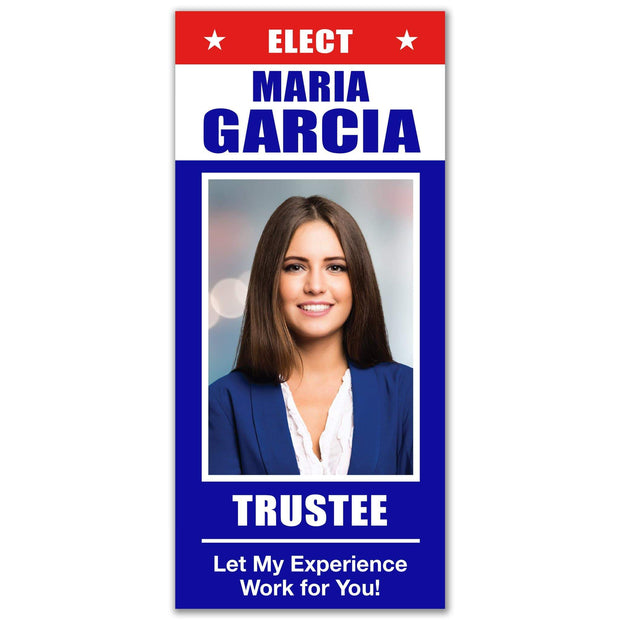 Political Palm Card / Push Card Templates - SET UP ONLY - PC-2 - Buttonsonline