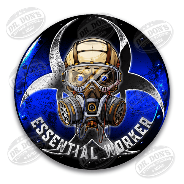 Police Blue Line Essential Worker Decal Sticker / UBEW-Police