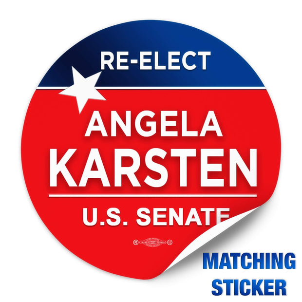 Red and Blue star Political campaign template sticker