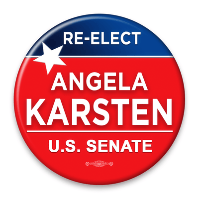 Red and Blue political campaign button template