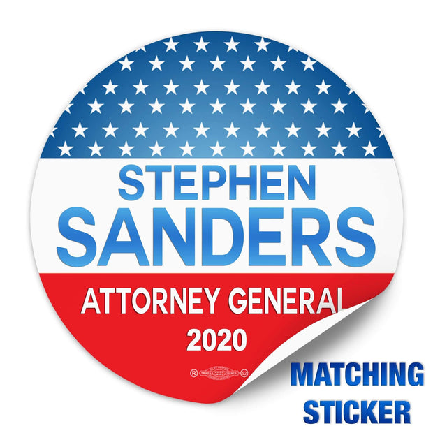Political Campaign Button Template - PCB-103
