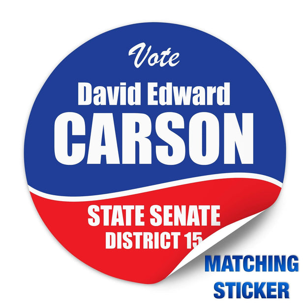 Political Campaign Button Template - PCB-107