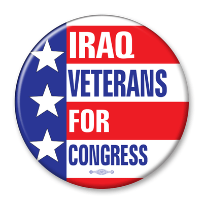 Political Campaign Button Template - PCB-110,pinback , three stars, stripes with text