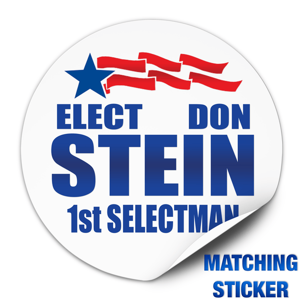 Political Campaign Button Template - PCB-112