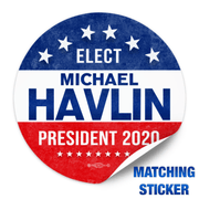 Political Campaign Button Template - PCB-113