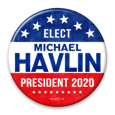 Political Campaign button template red white and blue