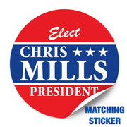 Political Campaign Button Template - PCB-115