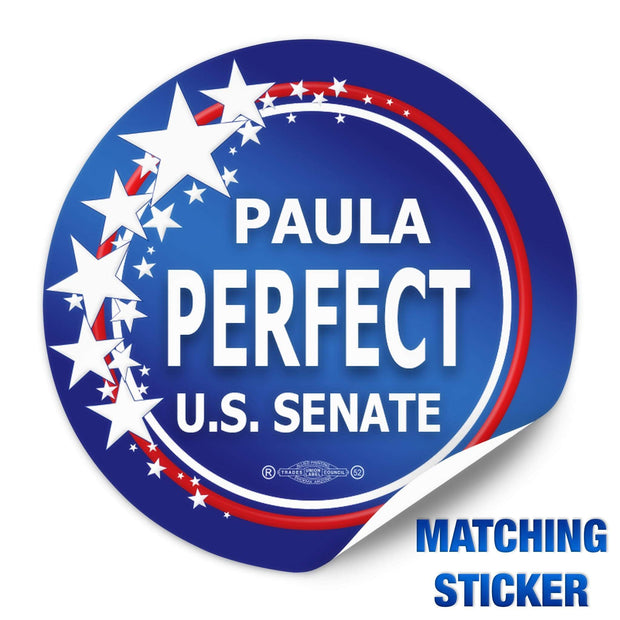 Political Campaign Button Template - PCB-116