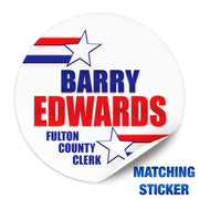 Political Campaign Button Template - PCB-117