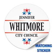 Political Campaign Button Template - PCB-118