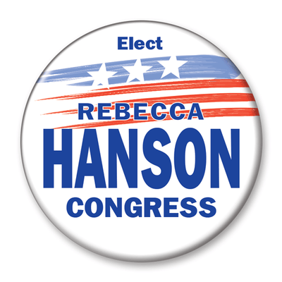 Political Campaign Button Template - PCB-120, pinback, stars, stripes