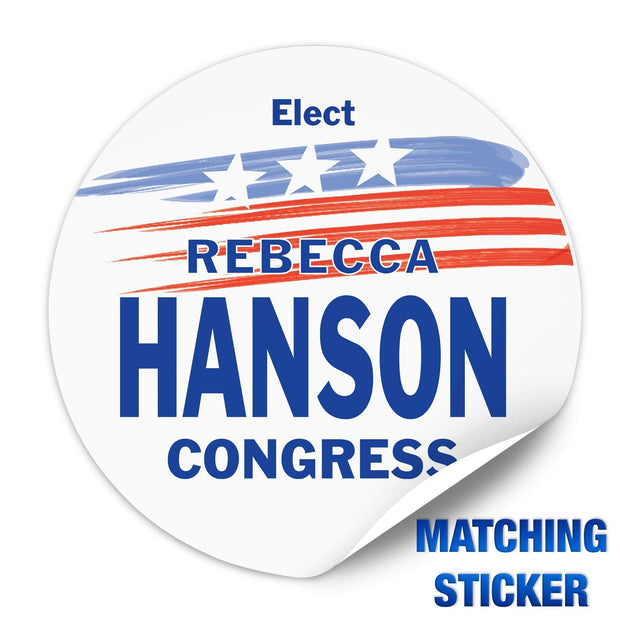 Political Campaign Button Template - PCB-120